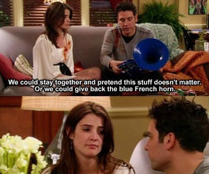 how i met your mother, robin, and TED image
