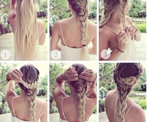 braids, pretty, and dirty blonde image