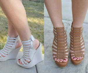 fashion, heels, and wedge image