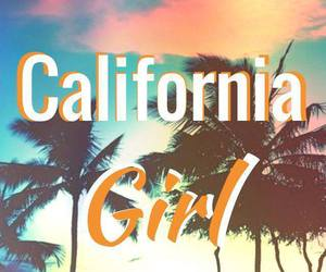 california, girl, and palm trees image