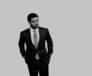 Drake, black and white, and drizzy image