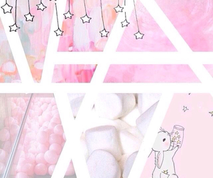 bunny, marshmallow, and pink image