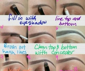 beauty, makeup, and brows image