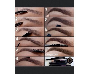 beauty, diy, and eyebrows image
