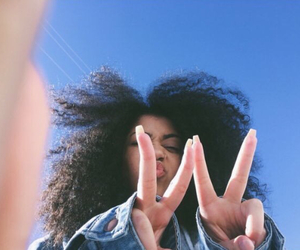 black, tumblr, and curly hair image