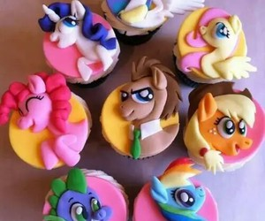 cupcake, food, and my little pony image