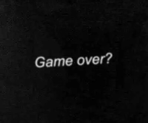 game over, game, and over image