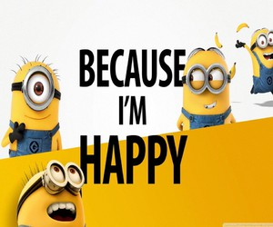 happy and minions image