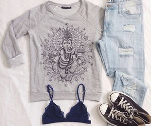 girl, outfit, and ropa image