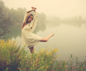 girl, nature, and dance image