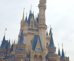 disney, disneyland, and cinderella castle image