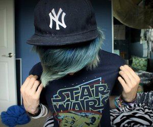 boy, star wars, and blue hair image