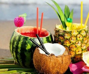 fruit, drink, and watermelon image