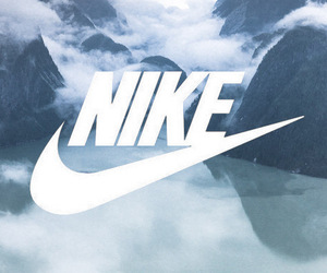 nike, clouds, and mountains image