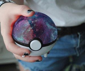pokemon, galaxy, and pokeball image