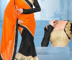 designer, bollywood sarees, and party wear saree image