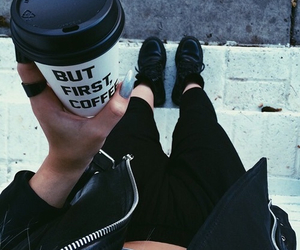 coffee, black, and grunge image