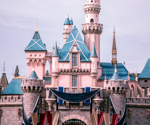 castle, disneyland, and disney image
