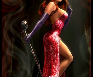 Jessica Rabbit, sexy, and red image