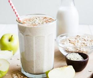 apple, Cinnamon, and smoothie image