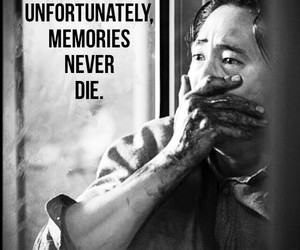 black and white, glenn, and the walking dead image