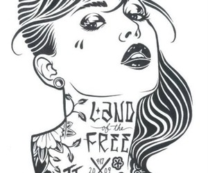 lips, rockabilly, and Tattoos image