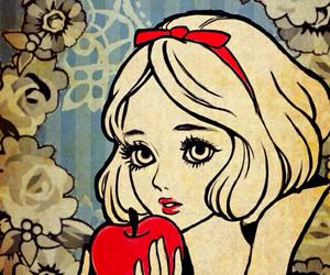 princess, apple, and snow white image
