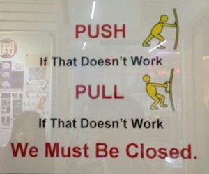 funny, pull, and push image