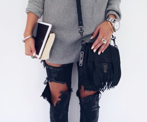 fashion, bohemian, and knitted image