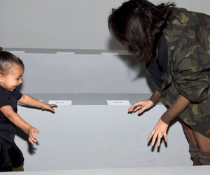 kim kardashian, north west, and kim image