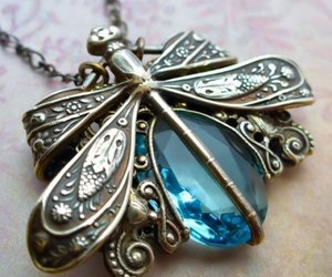 blue, pretty, and bronze image