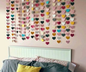 hearts, room, and diy image