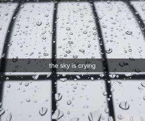 sky, cry, and rain image