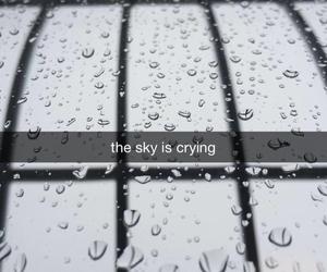 sky, cry, and rain image