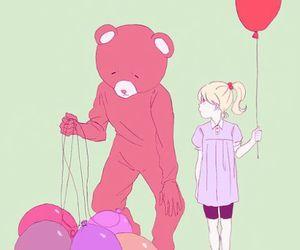 balloon, girl, and pink image