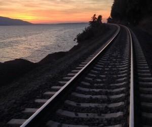sky and train image