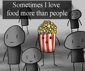 food, love, and people image