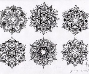 art, mandala, and ink image