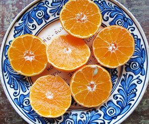 orange, fruit, and blue image