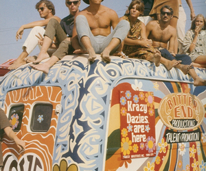 hippies, peace, and woodstock image