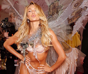 lips, candice swanepoel, and kiss image