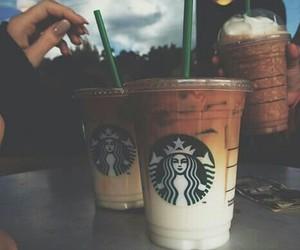 coffee, starbucks, and caramel macchiato image