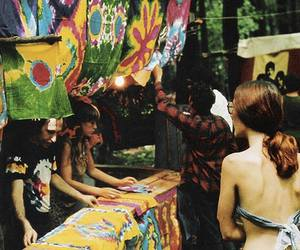 hippie, hipster, and tie dye image