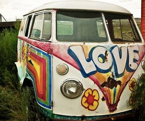 hippies, love, and peace image