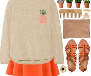 orange, pineapple, and Polyvore image