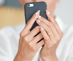 nails, phone, and iphone 6 image