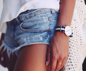 girl, ripped shorts, and cute image