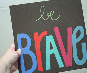 brave, quote, and woman image