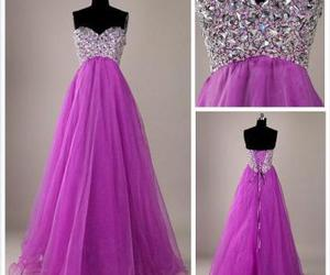 dress, purple, and Prom image