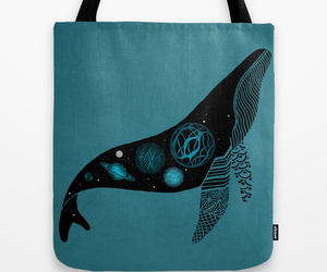 art, bag, and whale image